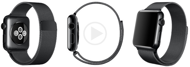 Space Black Milanese Loop Apple Watch Band Spotted on Apple Store
