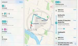 Apple Maps Transit Information For Austin Texas