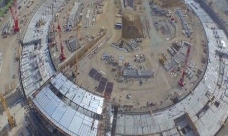 Latest 4k Drone Video Shows The Recent Development Changes Of Apples Spaceship Campus