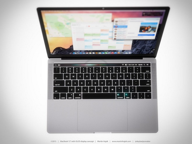New Concept Shows MacBook Pro Along with How the OLED Function Key Row