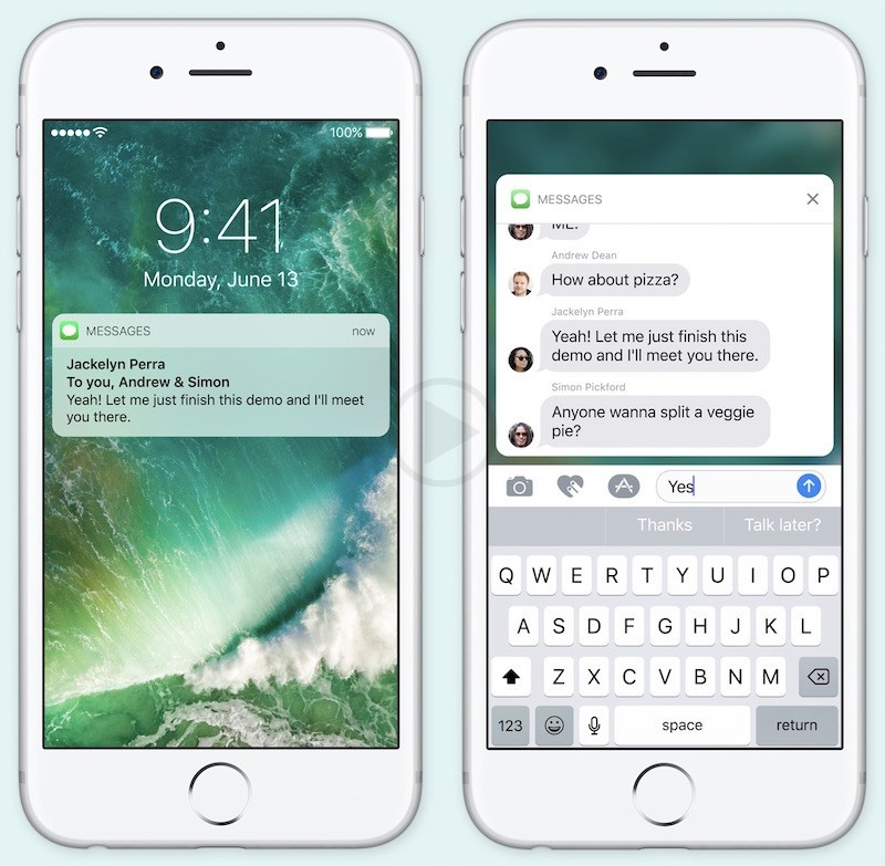 Confirmation Given by Apple that Even Devices that Do not have 3D Touch will Still have Rich  Notifications