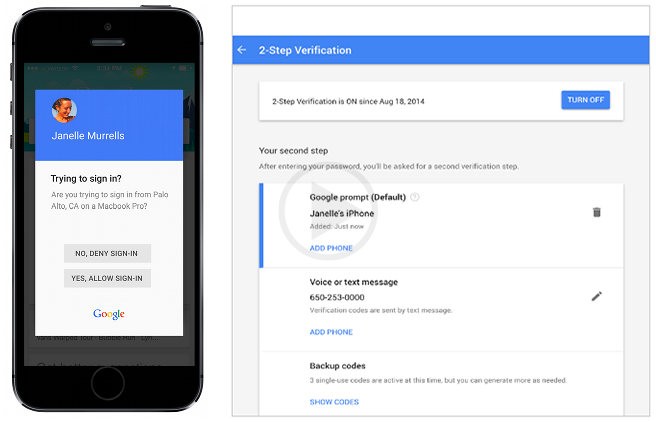 Two Factor Authentication is Simplified with the Login Prompt Process of Google