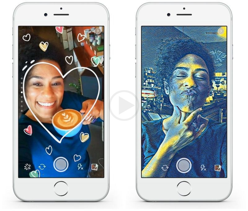 Testing Started by Facebook as They Plan to Come up with a Style Camera Just Like Snapchat  with Selfie Filters